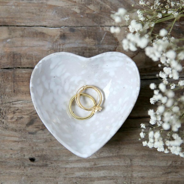 Heart ring dish. Shabby Chic Couture Design Inspiration from Rachel Ashwell!