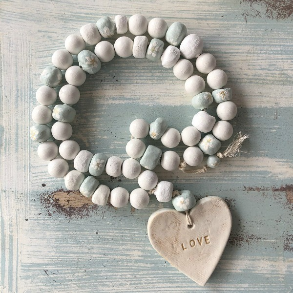 Heart Rosary by Laura Venosa.Shabby Chic Couture Design Inspiration from Rachel Ashwell.  See more Gorgeous European Country Interior Design Inspiration and lovely finds on Hello Lovely.