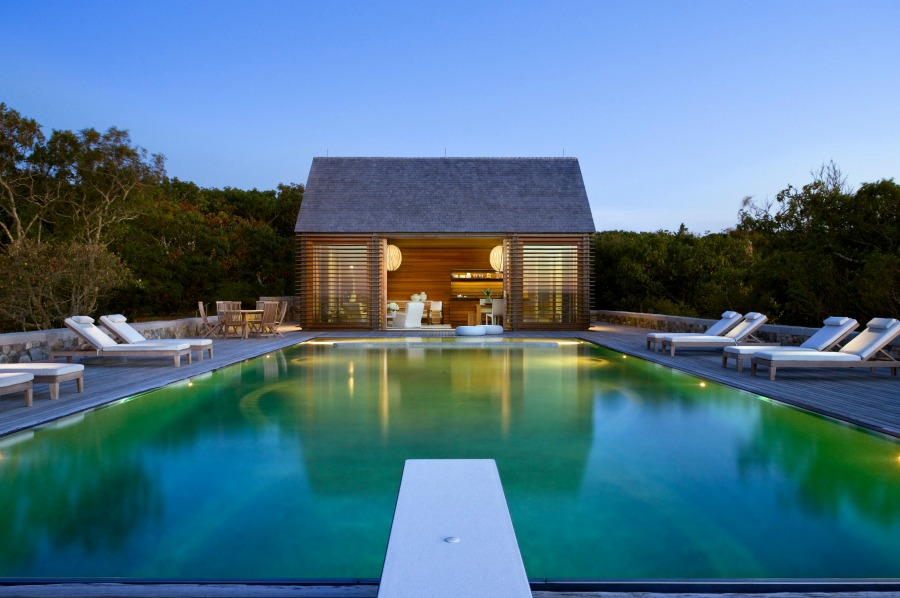 Glorious pool and cabana by Ike Kligerman Barkley on Hello Lovely Studio.