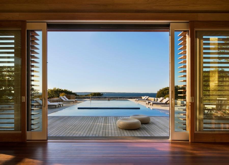 Breathtaking pool design by Ike Kligerman Barkley on Hello Lovely Studio.