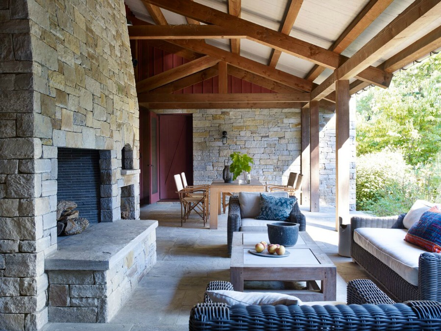 Breathtakingly beautiful patio and rustic oasis by Ike Kligerman Barkley.