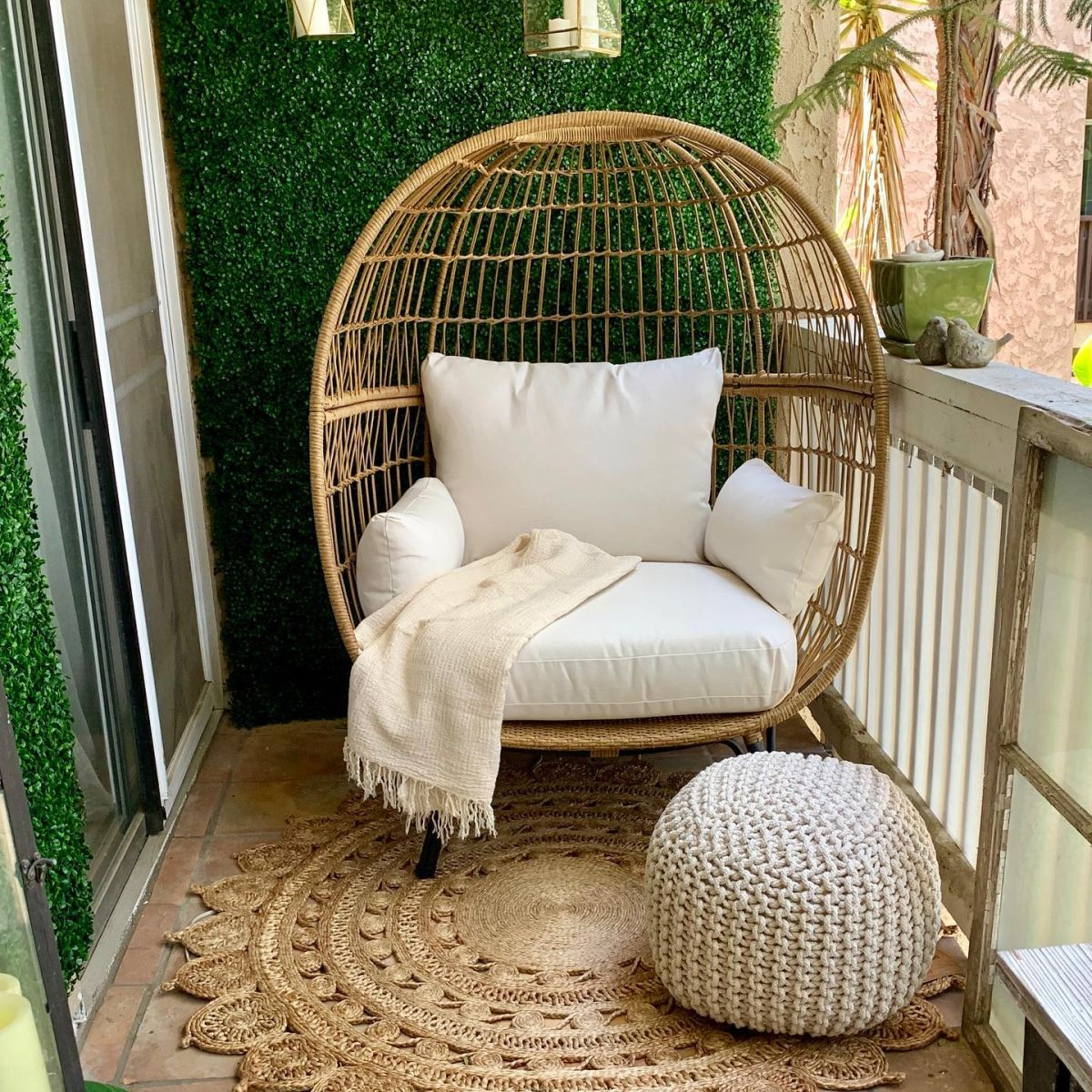 Southport Patio Egg Chair from Taget - photo from My Little French Venue.