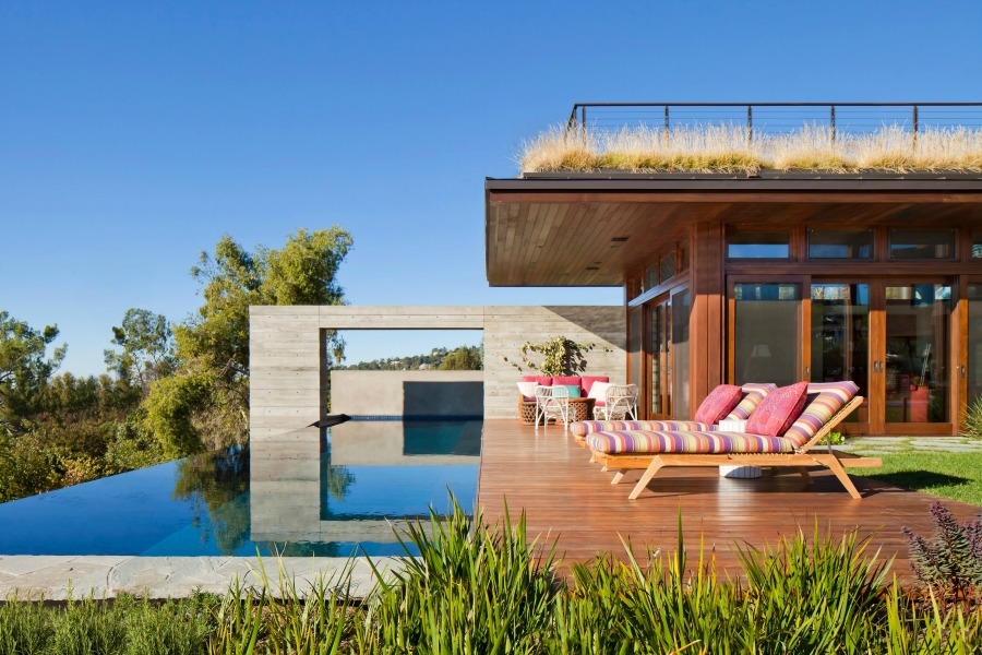Magnificent modern home and pool with design by KAA.