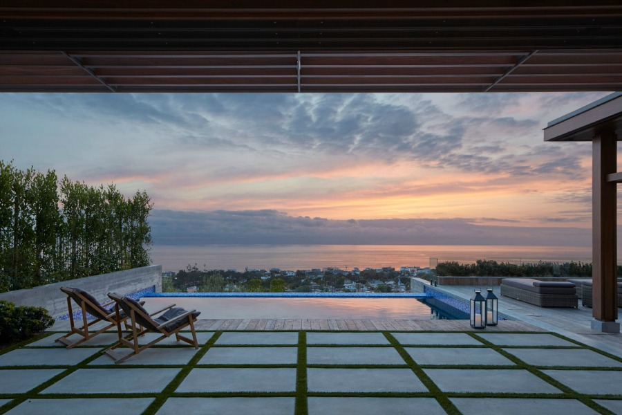 Magnificent pool (at sunset) with design by KAA.