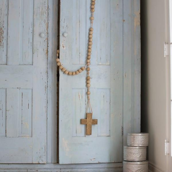 Large wood rosary. Shabby Chic Couture Design Inspiration from Rachel Ashwell.  See more Gorgeous European Country Interior Design Inspiration and lovely finds on Hello Lovely.