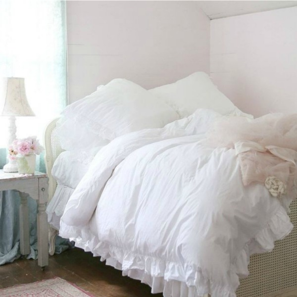 Pink bedroom with feminine romance. Shabby Chic Couture Design Inspiration from Rachel Ashwell!