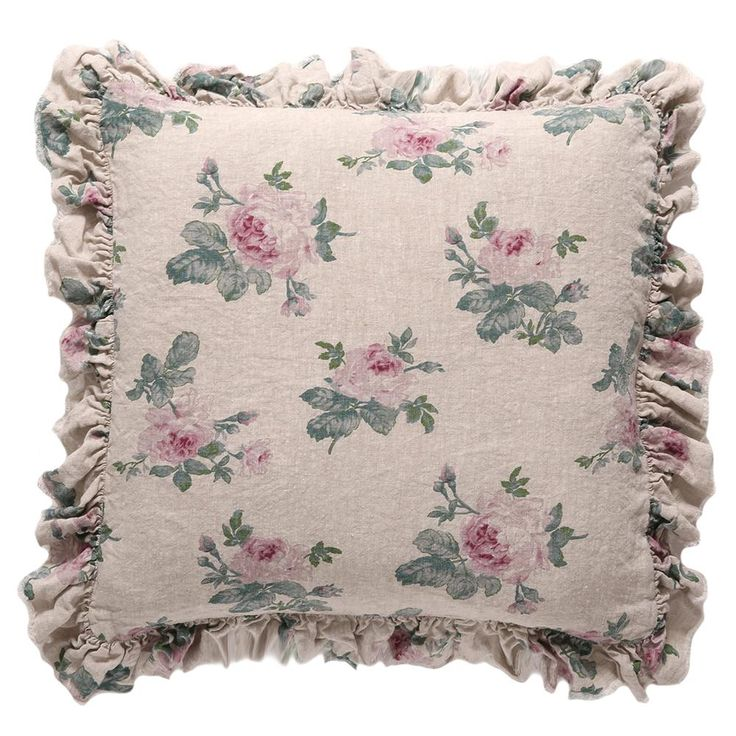 Rose Majesty Raspberry Pillow by Shabby Chic Couture (Rachel Ashwell).