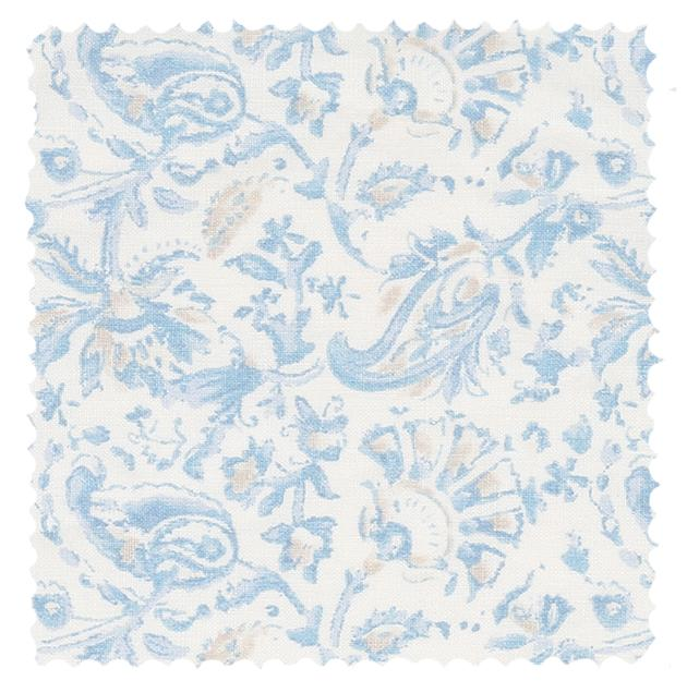 Shabby Chic Couture fabric Indes Blue Linen fabric.