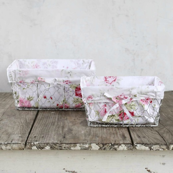 Storage baskets. Shabby Chic Couture Design Inspiration from Rachel Ashwell!