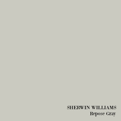 Sherwin Williams Repose Gray.