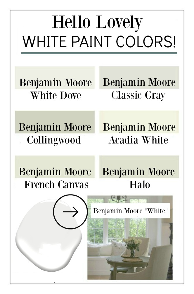 White paint color ideas from Hello Lovely Studio. #bestwhites #paintcolor #interiordesign