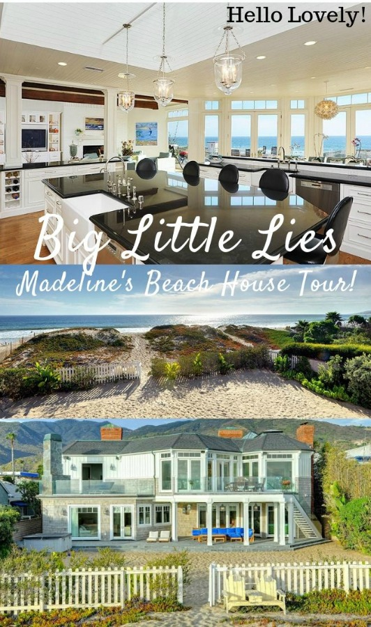 Madeline's beach house in Big Little Lies is a vacation rental in Malibu...come see the oceanfront house tour with Big Little Lies: Madeleine's Beach House Photos! #reesewitherspoon #biglittlelies