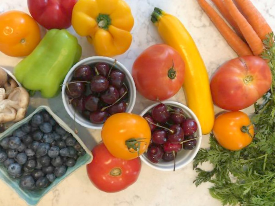 Colorful fruits and vegetables from the Farmer's market - Hello Lovely Studio. #farmersmaket