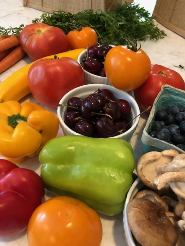 7 Little Life Hacks for Coping With Chronic Illness...in case you need a bit of encouragement. Colorful fruits and vegetables from the Farmer's market - Hello Lovely Studio. #farmersmaket