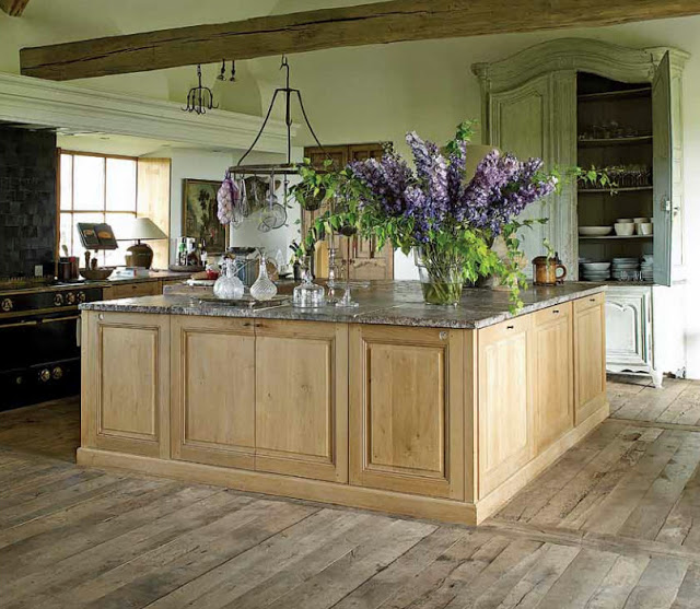 Exquisite Belgian kitchen of Brigitte Garnier, an antiques dealer and owner of The Little Monastery near Bruges.