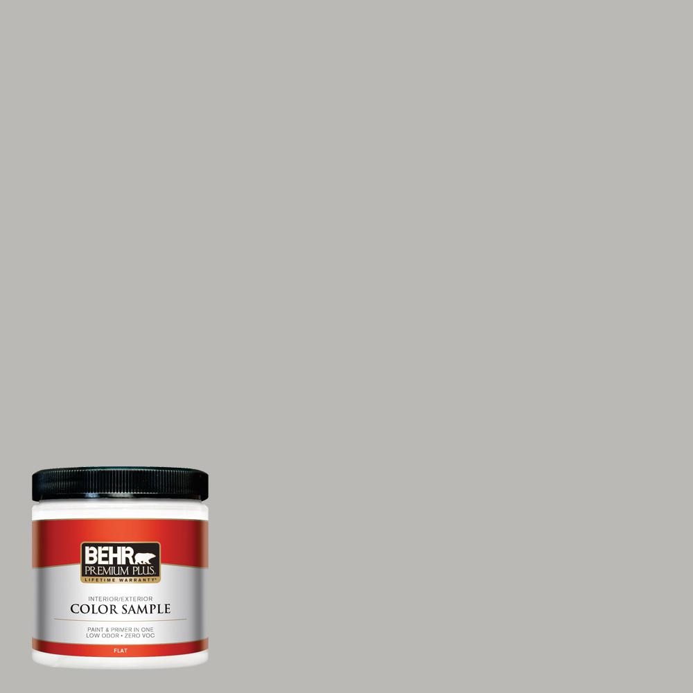 Behr Classic Silver grey paint color that is very close to Annie Sloan Paris Grey chalk paint.