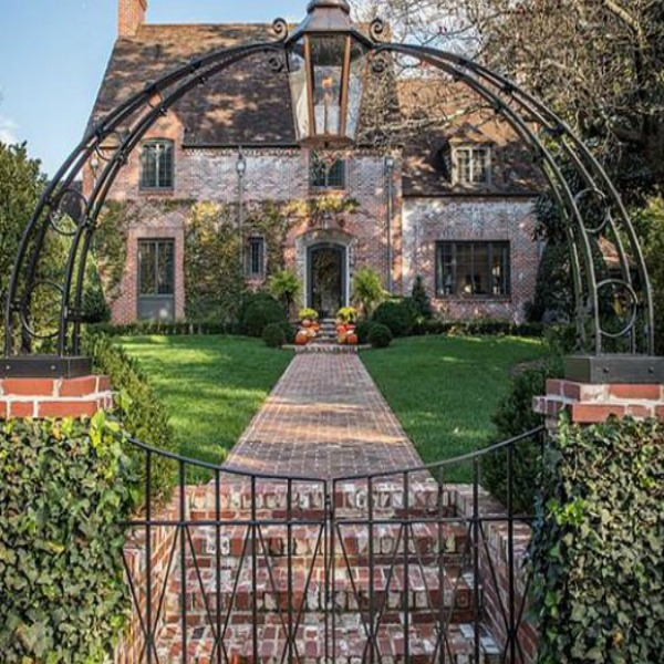 Elegant historic home with Old World style and beautifully classic European inspired interiors in Marietta Georgia was built for the Kennedy-DuPre family. See more in Traditional Style House Tour: 1935 English Tudor on Hello Lovely Studio.