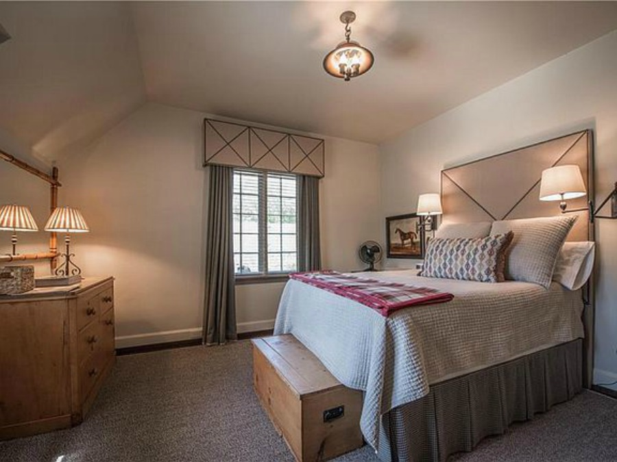 Bedroom in an elegant historic home with Old World style and beautifully classic European inspired interiors in Marietta Georgia was built for the Kennedy-DuPre family. See more in Traditional Style House Tour: 1935 English Tudor on Hello Lovely Studio.
