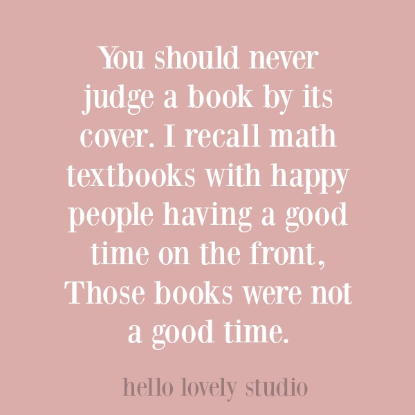 Funny quote on Hello Lovely Studio.
