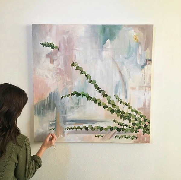 New Orleans artist Rebekah May is a painter with work exploring the imaginative convergence of nature and abstraction, reality and surrealism. See her beautiful paintings.exhibited at Claire Thriffiley Gallery.