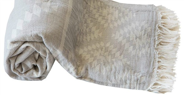 Turiskish beach towel or blanket is a perfect little throw for summer at the beach, in the car, and for travel.