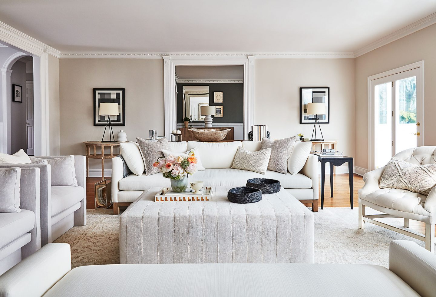 If a white sophisticated and comfy living room sounds heavenly, you'll love this story for getting the look!