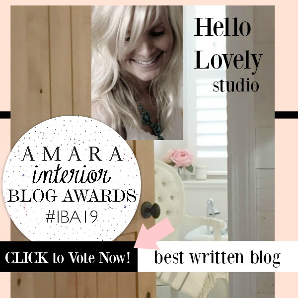 Amara Interior Blog Awards Banner Hello Lovely Studio Best Written Blog - please vote!