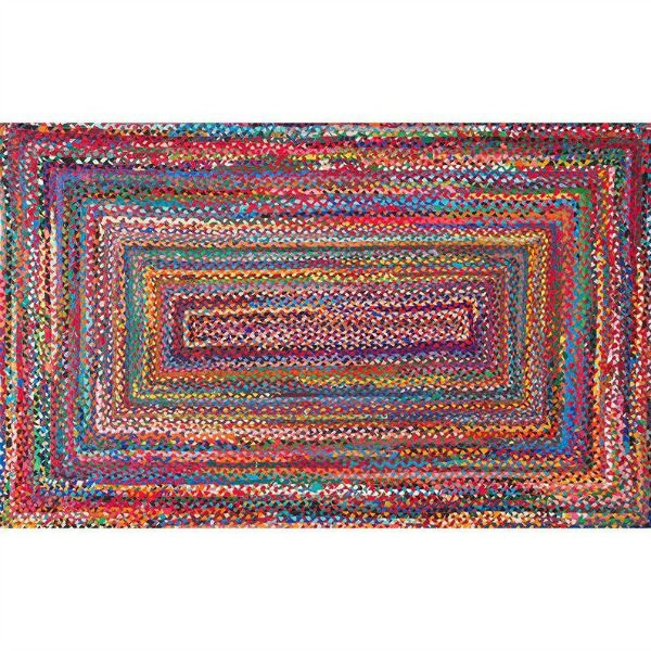 Vibrant and colorful handmade braided rag rug chindi - perfect for rug layering with a quippy doormat! Come explore Adorable Fall Finds, Sacred in the Everyday, Inspirational Quotes as well as Autumn Decor's Cozy Warmth.