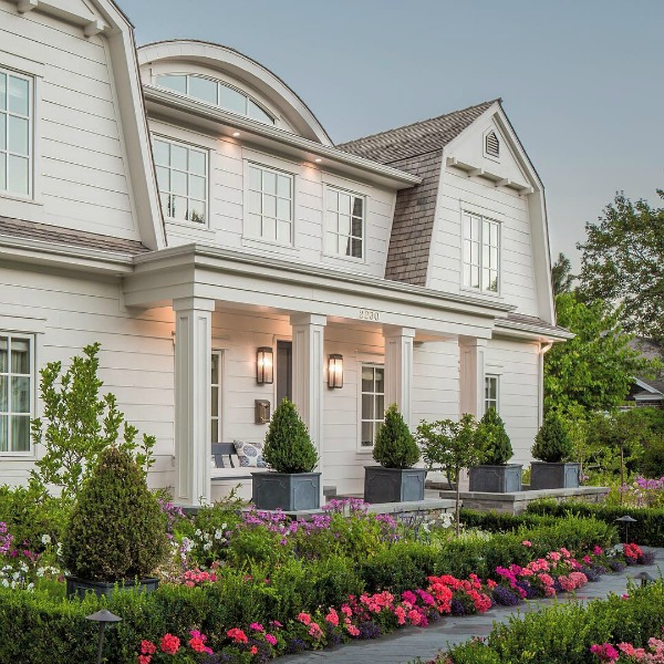 Traditional home exterior by The Fox Group. Click through for 9 Tranquil, Traditional, Timeless Interior Design Ideas & Inspiring House Exteriors: The Fox Group!
