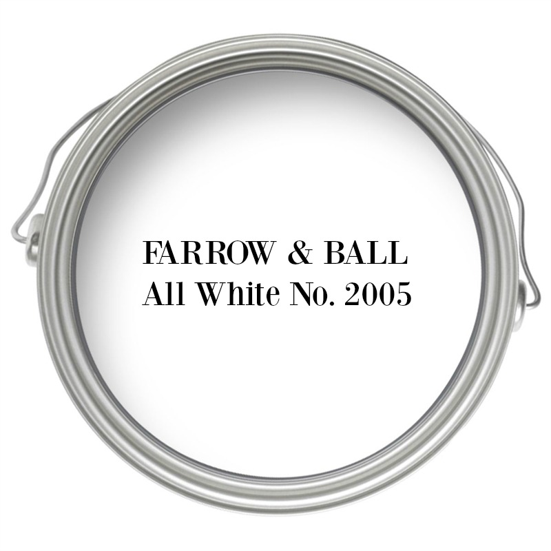 Farrow and Ball All White No. 2005 paint color.