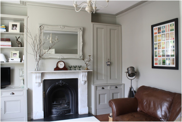 Living room with walls painted Farrow & Ball Hardwick White - Hannah Gooch of Ebury. Come score ideas for 16 Amazing Serene Paint Colors Interior Designers Use for a Soothing Vibe.