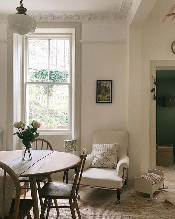 Farrow & Ball Wimborne White paint color on walls in a beautiful home in Ireland by Homestead.