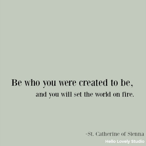Inspirational quote by Catherine of Sienna on Hello Lovely Studio.