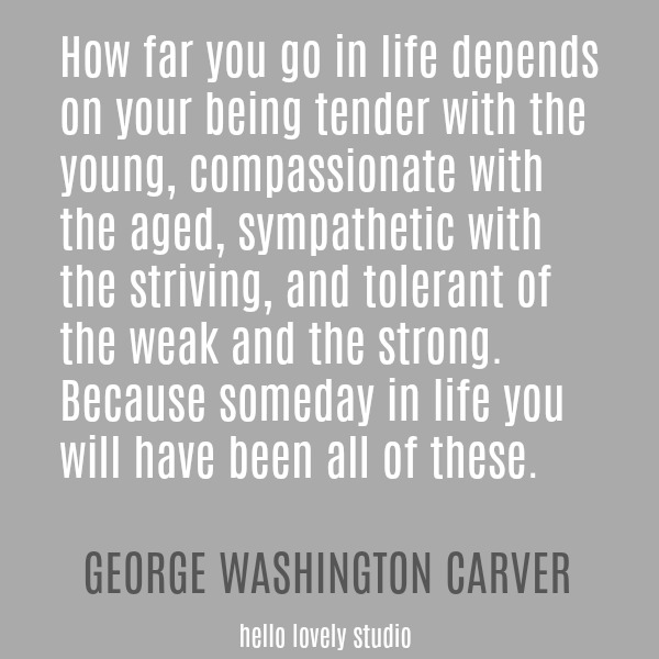 Inspirational quote from George Washington Carver on Hello Lovely Studio.