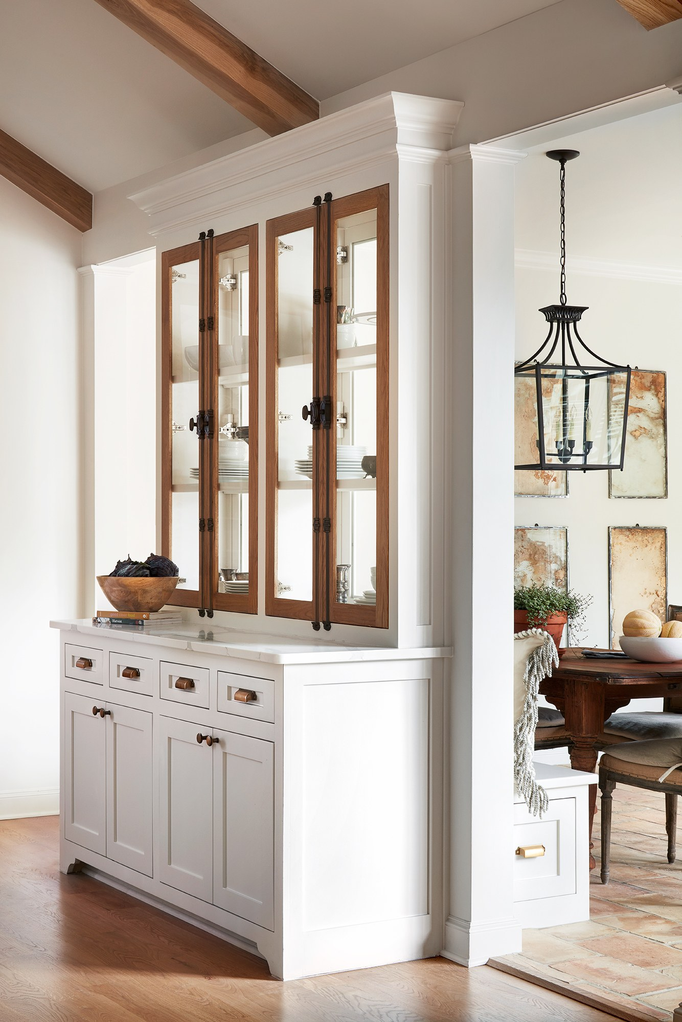 "If you watched ""The Club House"" episode of HGTV's Fixer Upper and loved the French country kitchen, come explore resources and decorating ideas for getting the look! #frenchcountry #fixerupper #theclubhouse #kitchen"