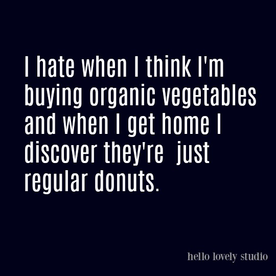 Humor quote about diet on Hello Lovely Studio.