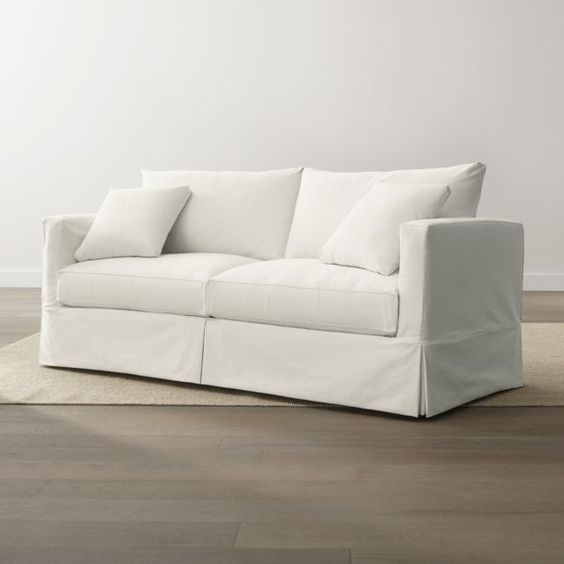 Willow Modern Slipcovered Sofa from Crate and Barrel.