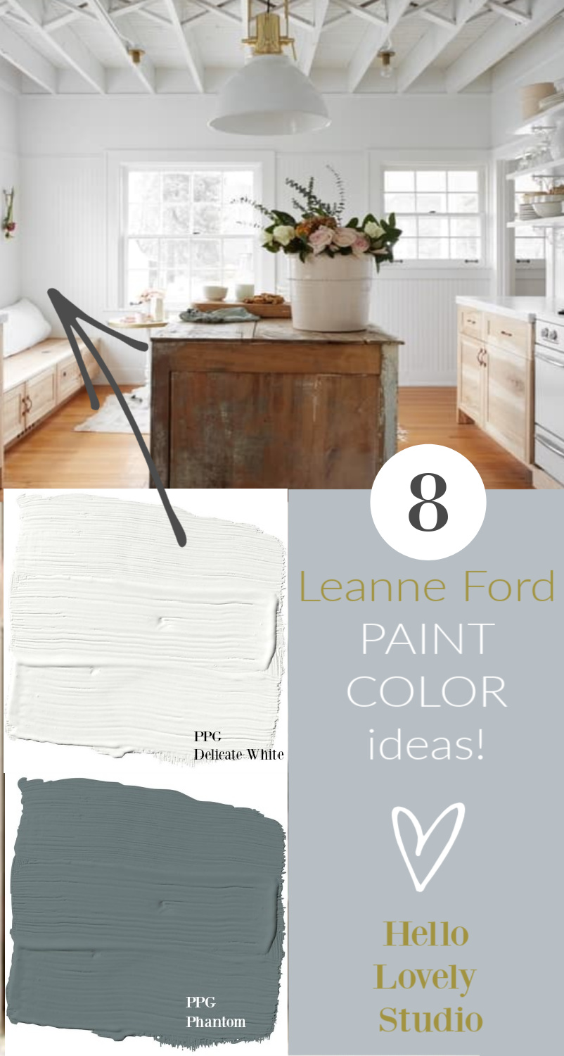 8 Leanne Ford Paint Color Ideas - Hello Lovely Studio. #paintcolors #interiordesign #leanneford