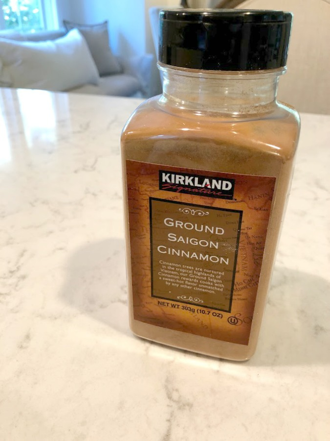 Kirkland Saigon Cinnamon - Easy Cider Donut Cake Recipe in case you love apple cider donuts but want a quick healthier alternative!