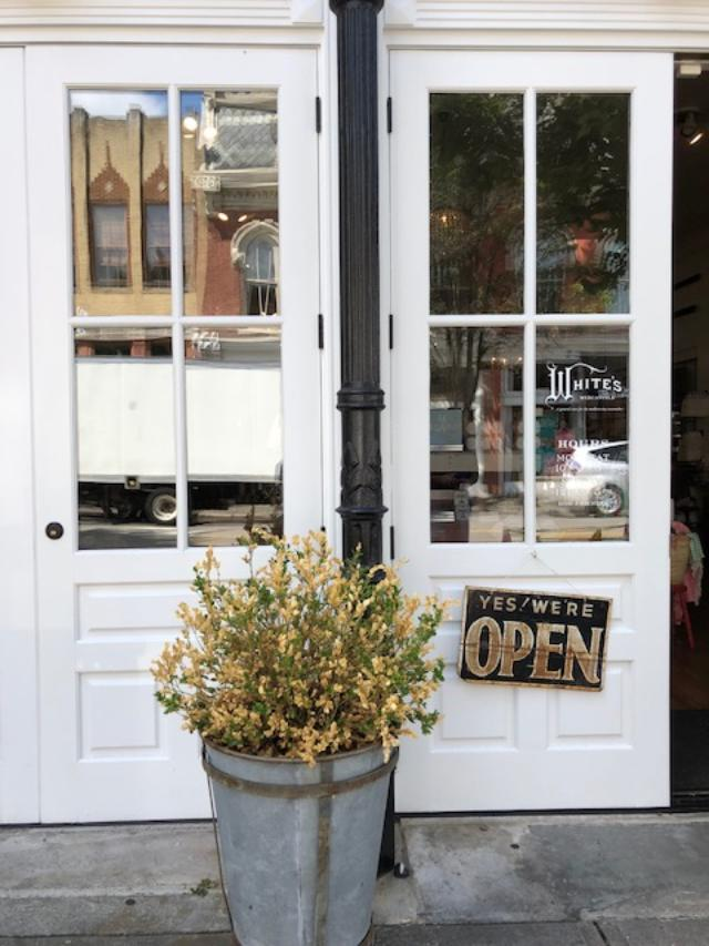 White's Mercantile in downtown Franklin, TN is filled with a charming mix of decor and farmhouse finds - Hello Lovely Studio. CLICK OVER to my place to discover 4 Charming Franklin Tennessee Shops for Vintage, Antiques & Farmhouse Decor Finds!