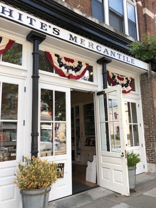 White's Mercantile in downtown Franklin, TN is filled with a charming mix of decor and farmhouse finds - Hello Lovely Studio.