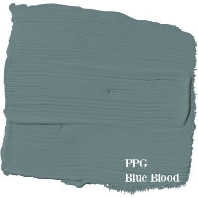 Blue Blood PPG paint color is one of Leanne Ford's top picks (HGTV's Restored by the Fords). #paintcolors #interiordesign #blueblood #ppg #bestblue