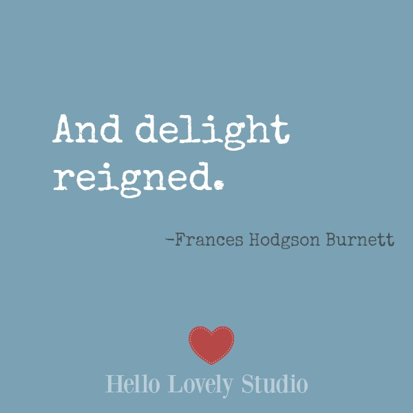 Inspirational quote on Hello Lovely Studio on a blue background. #inspiration #encouragement #wisdom #quotes