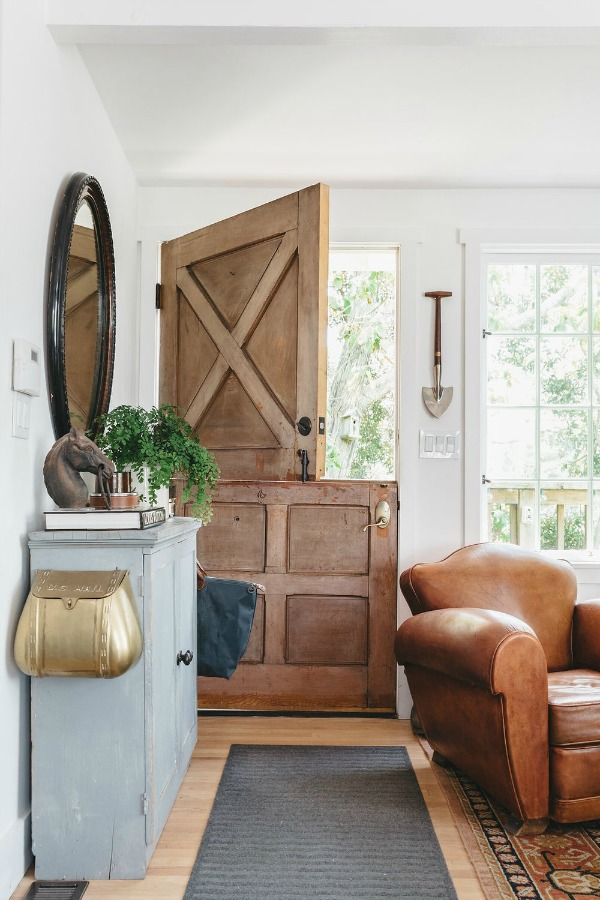 Home of The Design Network's; Living Big in Under 1,000 Sq. Ft. - Theodore Leaf   Rolling Stone  magazine's digital guru, Matthew Habib. | City Farmhouse Style Photography: Alissa Saylor. Come discover 3 Inspiring Art & Design Books on My Nightstand This Minute I Am Loving!#cityfarmhouse #dutchdoor #interiordesign #moderncountry #rusticdecor