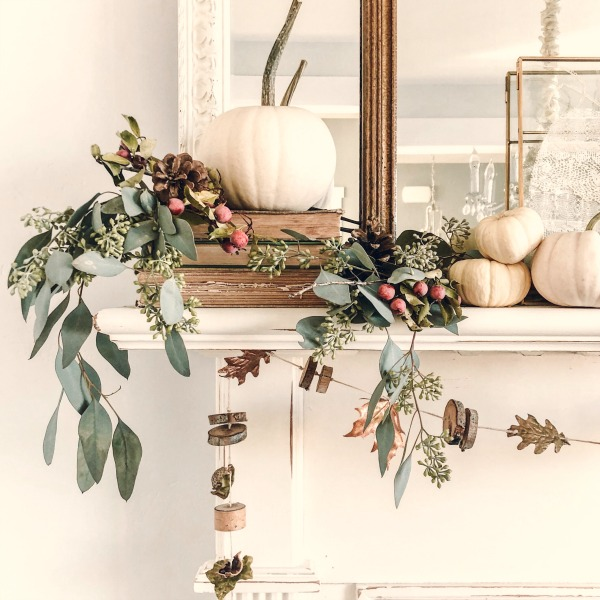 Autumn decor and Fall DIY craft ideas including wreaths with acorns and twigs are in the mix! CLICK OVER to say HELLO LOVELY to Pretty Pumpkin Decor and Recipes [in case you're ready to FALL in Love With Autumn].