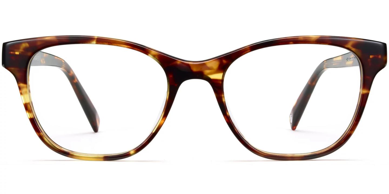Warby Parker Amelia Eyeglasses in Rootbeer.