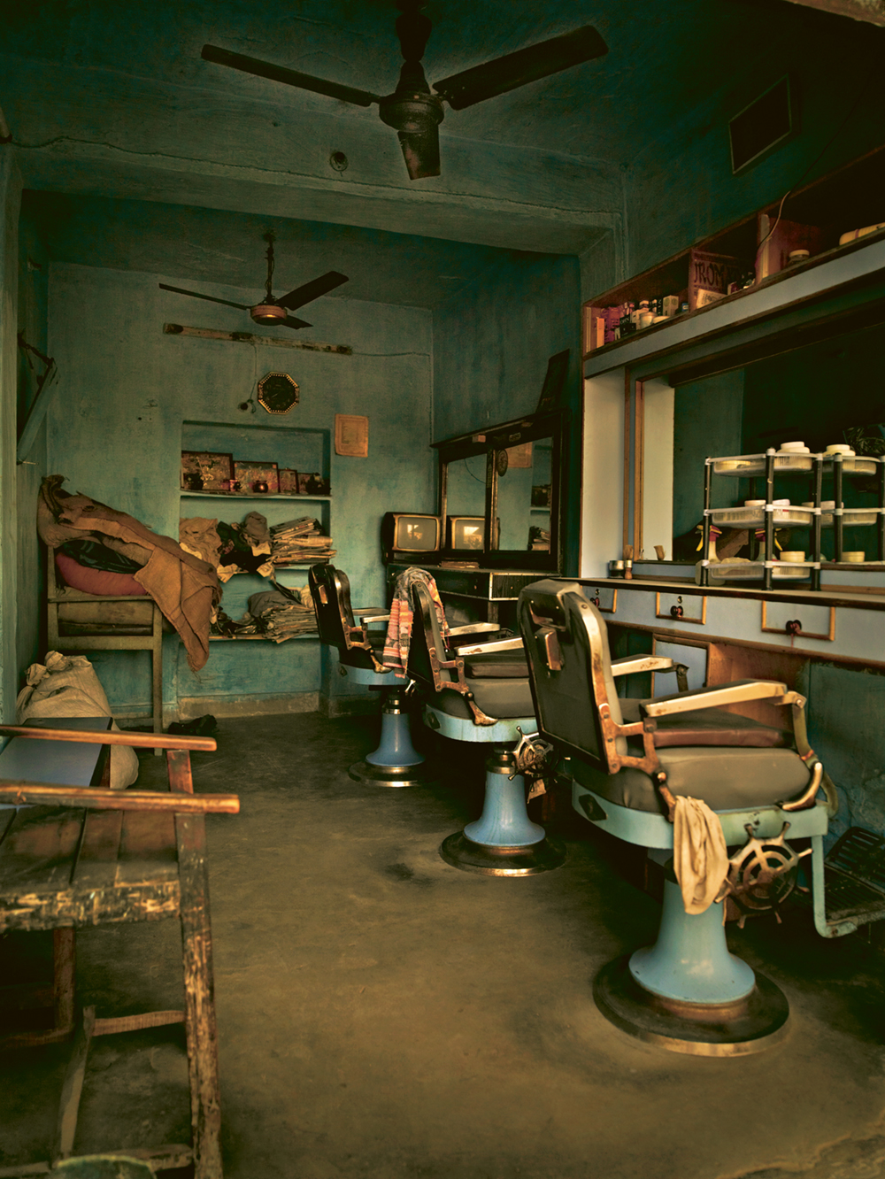 Barbershop in India. Photo © Andreas H. Bitesnich. All rights reserved. Come discover 3 Inspiring Art & Design Books on My Nightstand This Minute I Am Loving!
