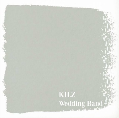 Wedding Band by Kilz is a light grey paint color Joanna Gaines likes using in projects seen on Fixer Upper. #bestgreypaint #kilz #weddingband #interiordesign #paintcolors #joannagaines