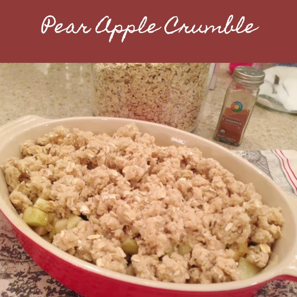 Make this delicious pear apple crumble recipe in the fall when you're ready for sweet deliciousness and the aroma of home! Hello Lovely Studio's recipe is easy and yummy.