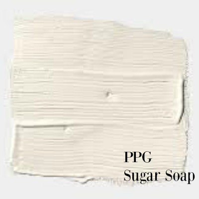 PPG Sugar Soap paint color is a perfect white paint to use for your walls and a favorite of Leanne Ford of HGTV's Restored by the Fords. #sugarsoap #perfectwhite #paintcolor #leanneford #ppg